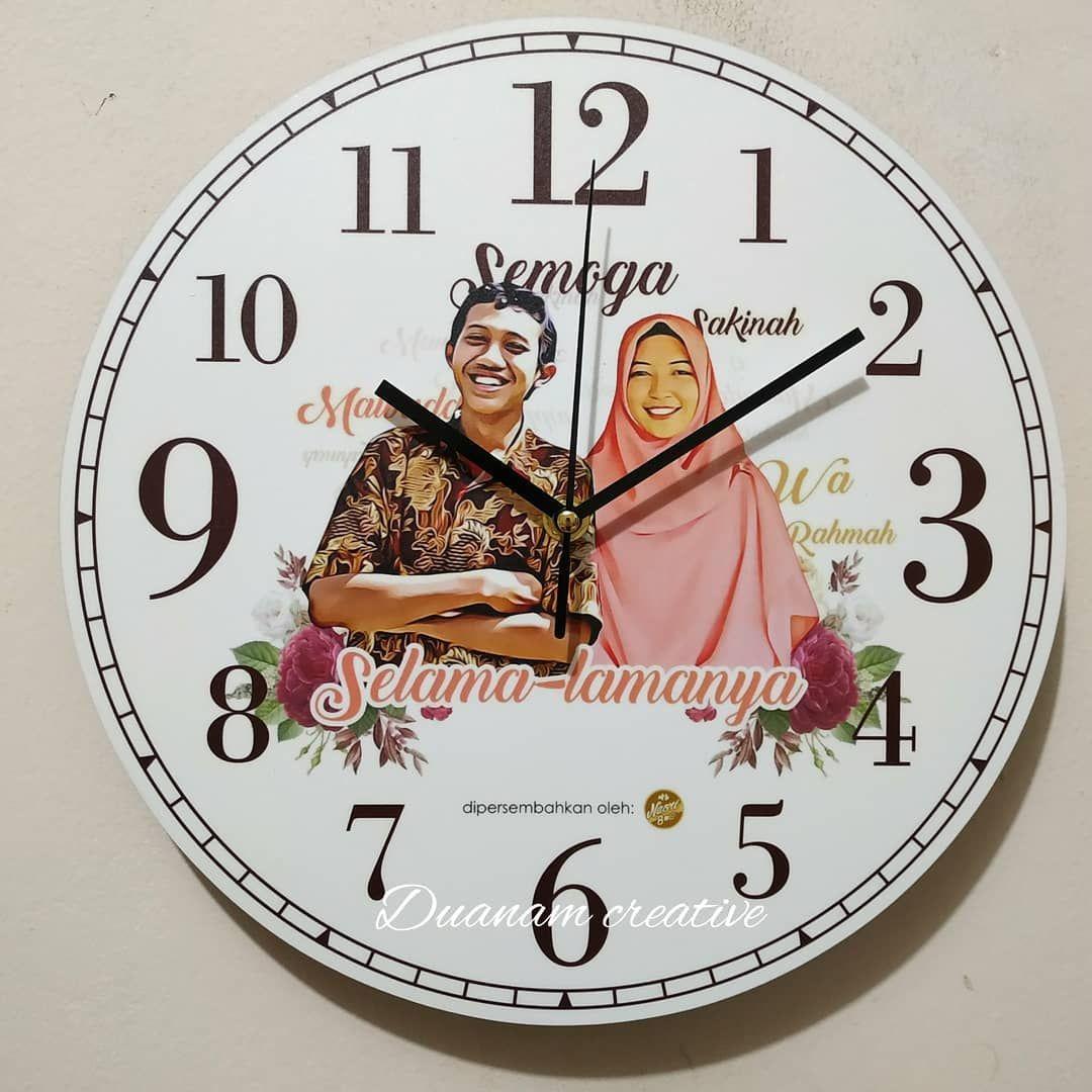 Bestseller Jam Dinding Custom Bisa Desain Sendiri Ukuran 29x29cm Bahan Kayu Mdf 6mm Dan Diprint Diatas Kertas Photo Prem Kado Dekorasi Rumah Home Decor