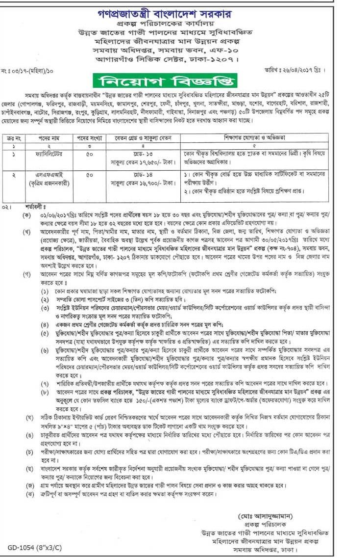 Depertment of Rural Development and Cooperative Job