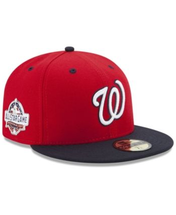 New Era Boys  Washington Nationals Washington All Star Game Patch 59FIFTY  Fitted Cap - Red Navy 6 1 2 bc7bc956396