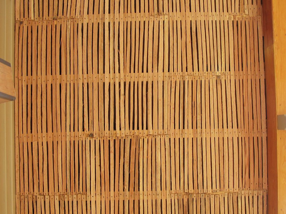 Wooden Lath Of The Porch Ceiling