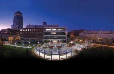 Beautiful shot of Winston-Salem State University (WSSU), North