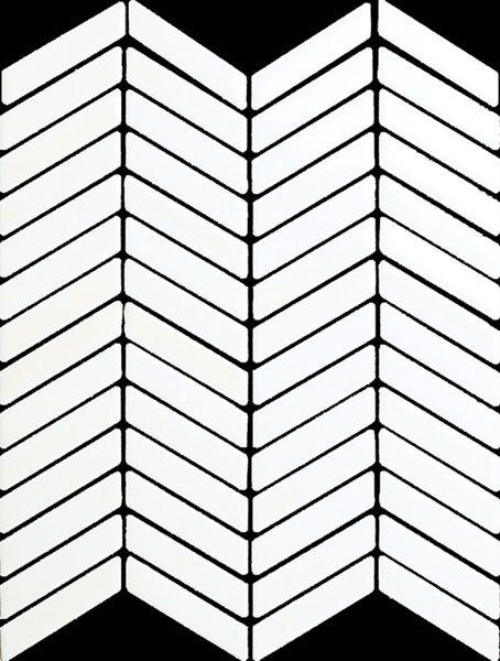 H Line Cotton Chevron Mosaic 12x9 Sheet