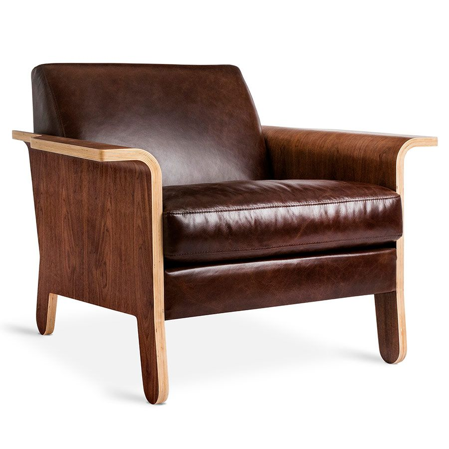 Lodge Chair Chestnut Brown Leather Furniture Organic