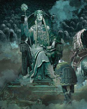 Hel goddess of death painting