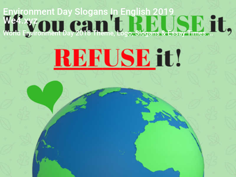Environment Day Slogans In English 2019 (Image 17) WORLD