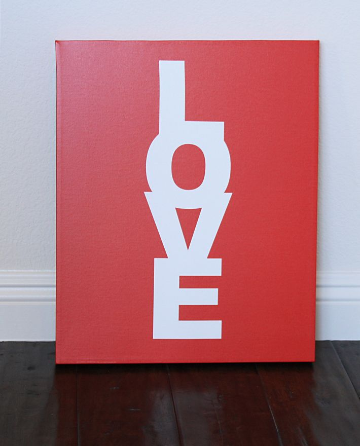 Love Candy wrapped canvas - Made by girl