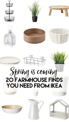 20 farmhouse things you NEED for Spring from Ikea!!
