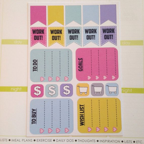 Assorted Planner Stickers (EC color theme)
