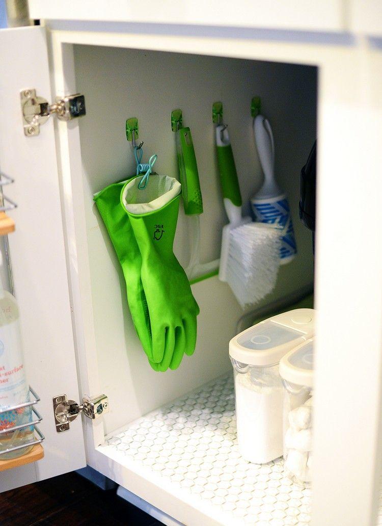 küche-organisieren-küchenschrank-unter-spüle-ordnung | Haus - Küche ...