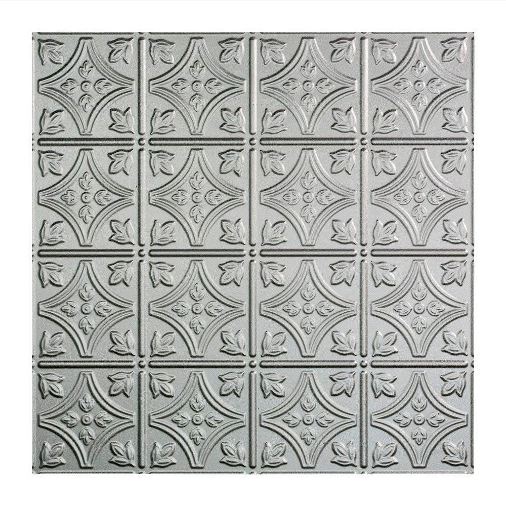 Fasade Traditional Style 1 2 Ft X 2 Ft Vinyl Lay In Ceiling Tile In Bermuda Bronze L50 17 The Home Depot Ceiling Tile Drop Ceiling Tiles Ceiling Panels
