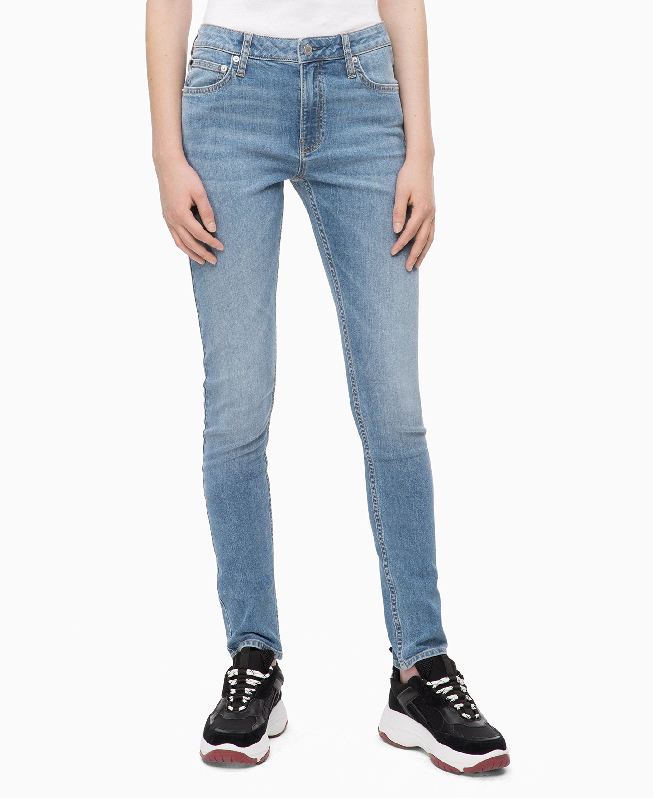 Calvin klein jeans womens ckj 021 mid rise slim fit jean