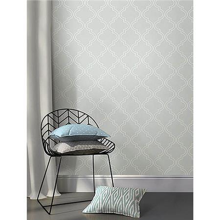 Grey Quatrefoil Peel And Stick Wallpaper Nuwallpaper Quatrefoil Wallpaper Peel And Stick Wallpaper