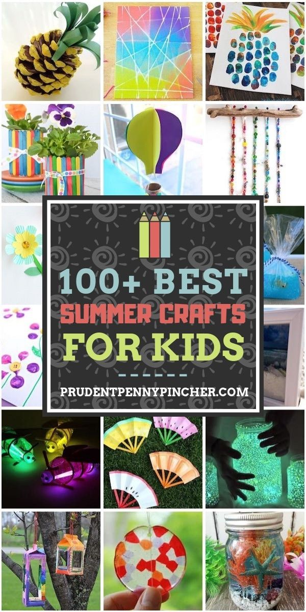 Info's : 100 Best Summer Crafts for Kids #summer #summercrafts #summeractivities #crafts #diy #diycrafts #craftsforkids