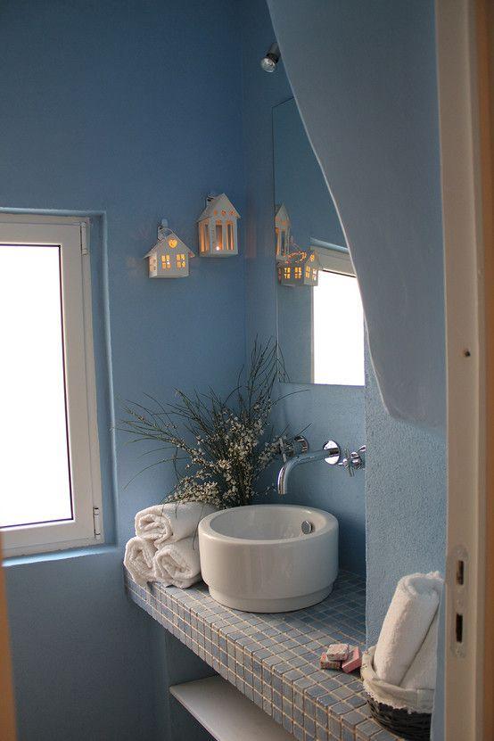 e7143a342cf1 Una casa dal sapore di mare | INTERIER bathroom | Bagno mediterraneo ...