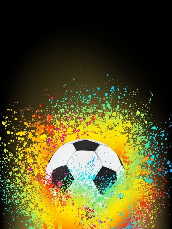 Abstract Background With A Soccer Ball Eps 8 Vector File Included Vector Colourbox Soccer Art Soccer Ball Soccer