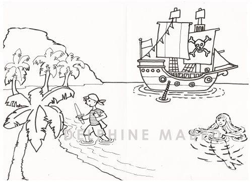 Coloriage Gratuit Bateau Pirate - Recherche Google