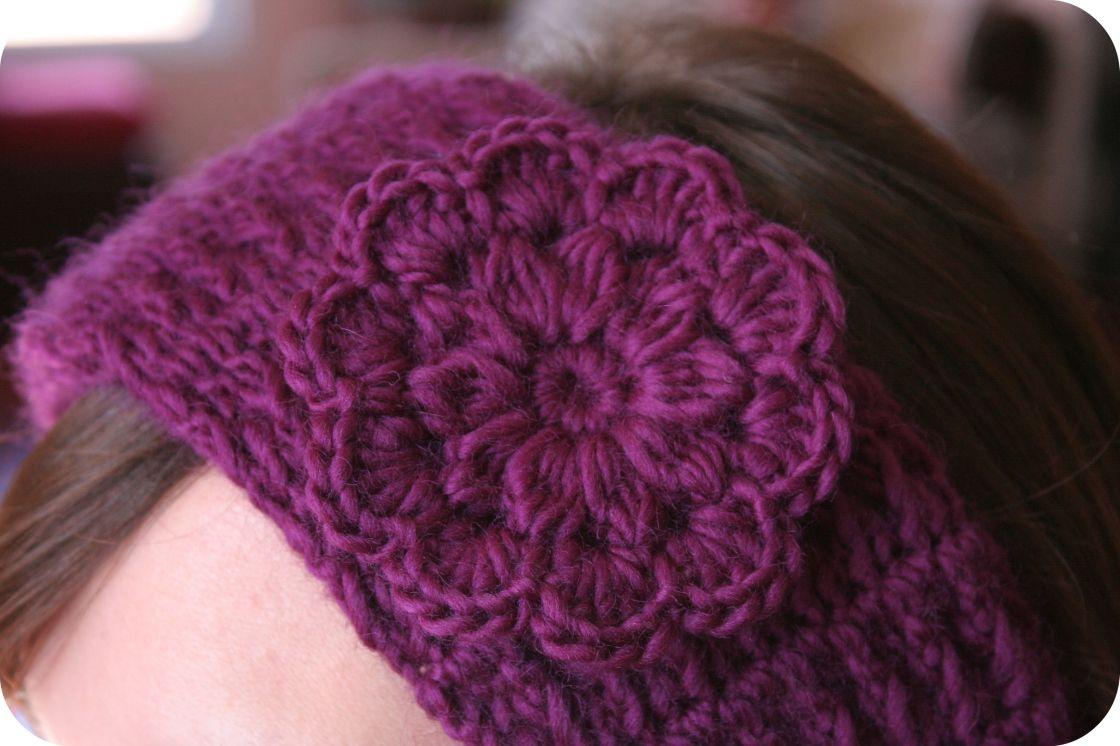 Free Crochet Headband Pattern With Flower Crochet Pattern Headband