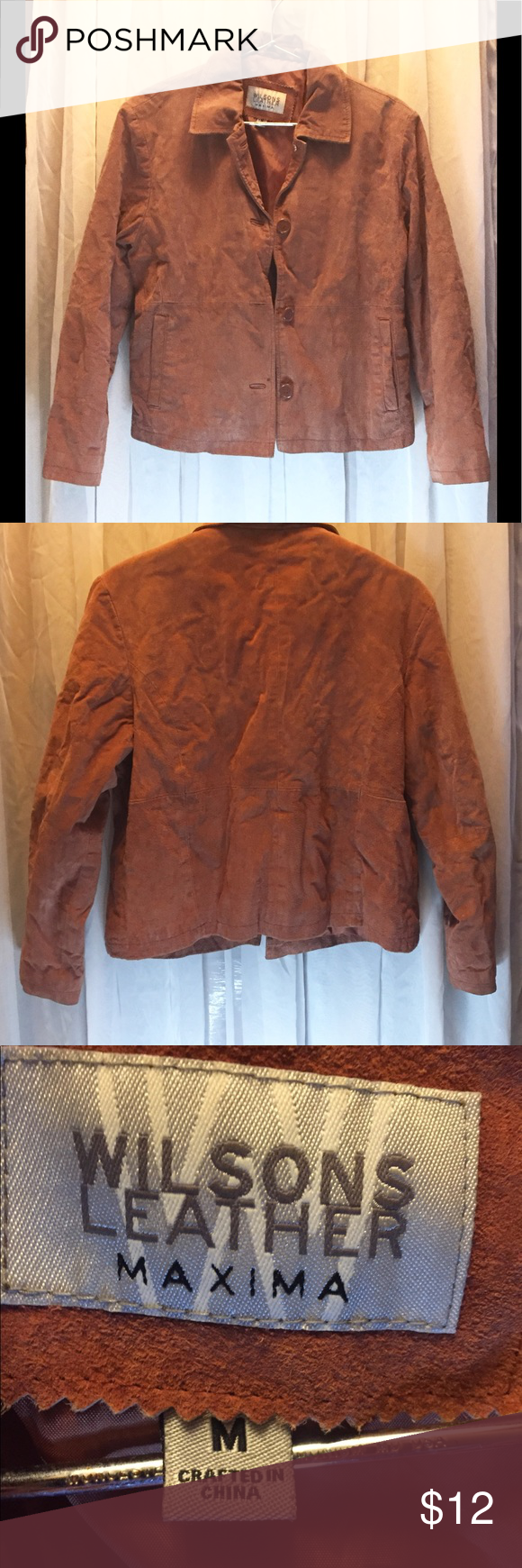Wilson's Leather Maxima Suede Jacket (M) in 2020 Wilsons