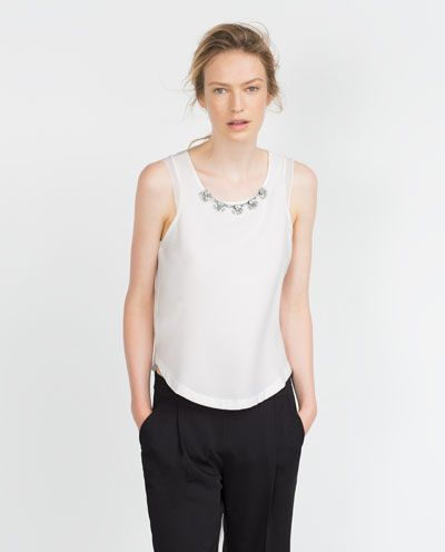 ZARA - WOMAN - JEWELLED TOP