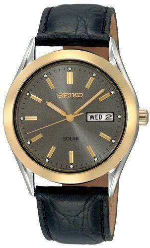 Seiko Men S Sne050 Solar Strap Charcoal Dial Watch Seiko 85 65