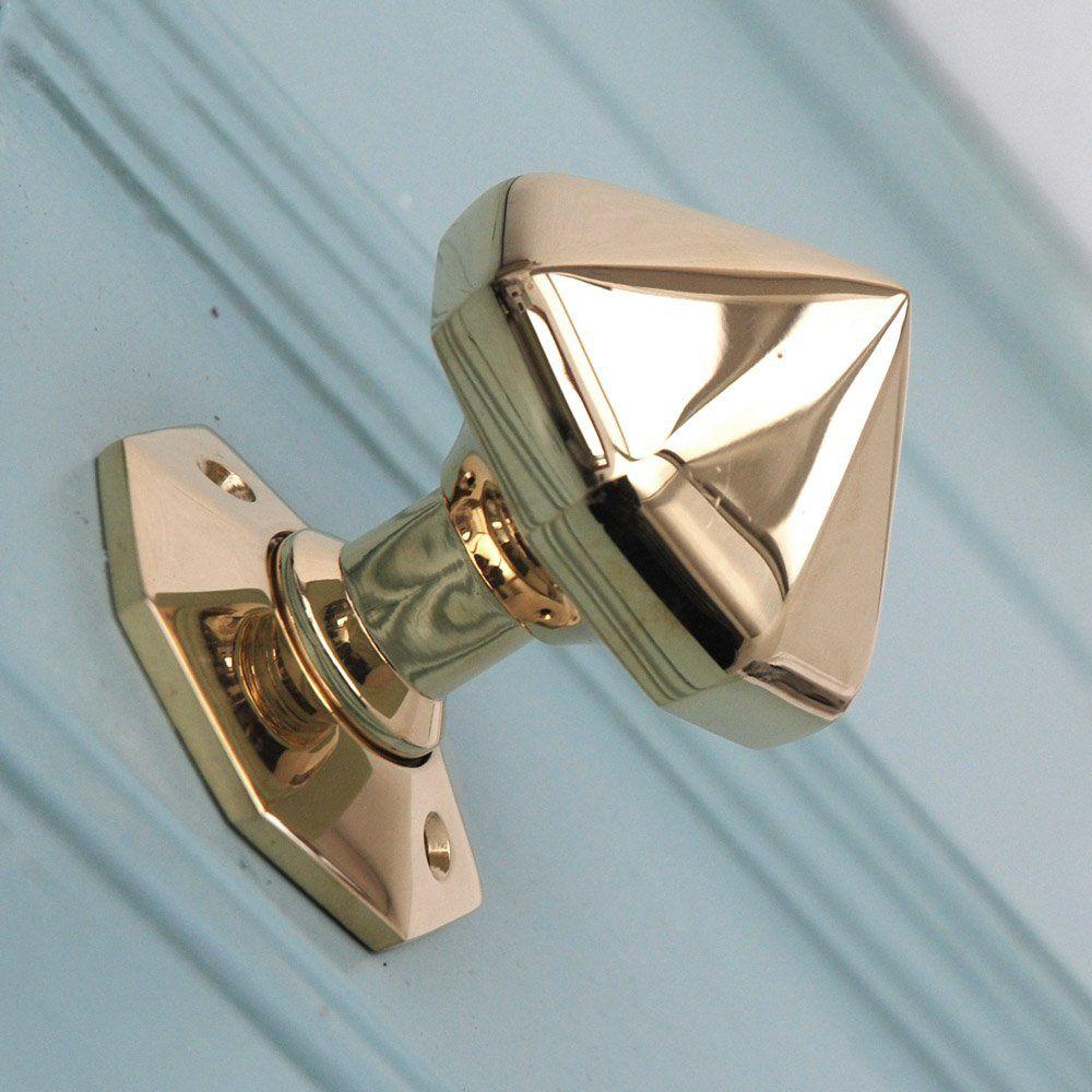 Solid Brass Pointed Octagonal Door Knobs