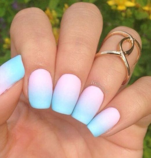 10 fabulous ombre nail art designs 7 pink and blue matte nails 10 fabulous ombre nail art designs 7 pink and blue matte nails prinsesfo Choice Image