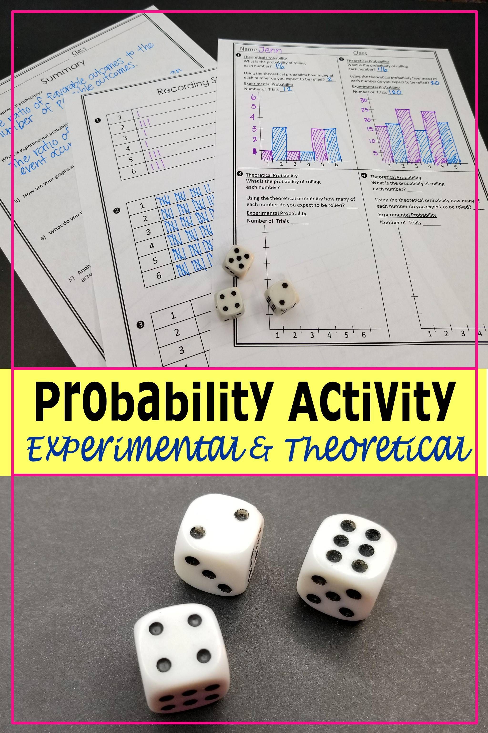 Theoretical And Experimental Probability Activity