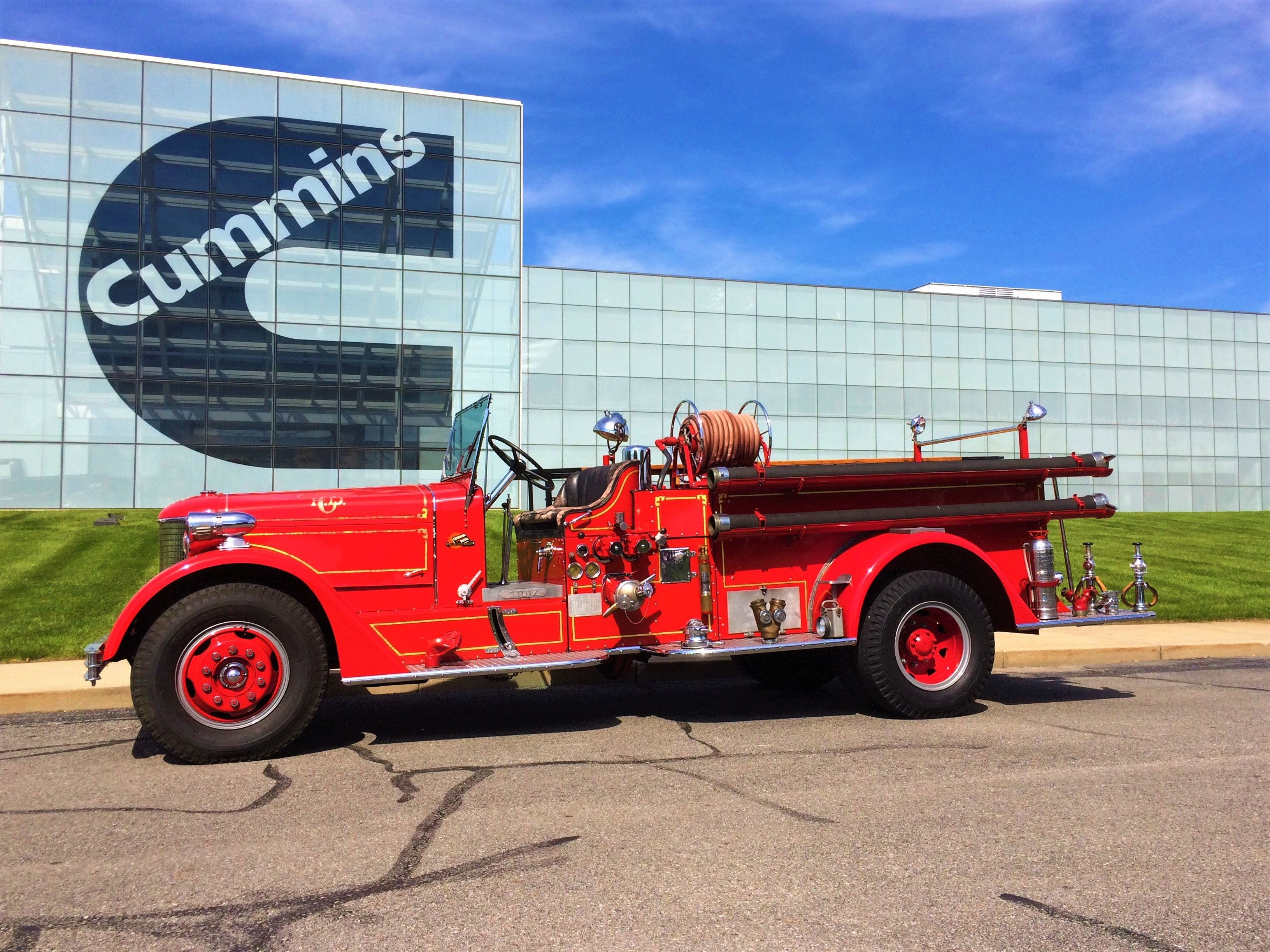 Columbus Fire Department Indiana Old Engine 1 1937 Stutz