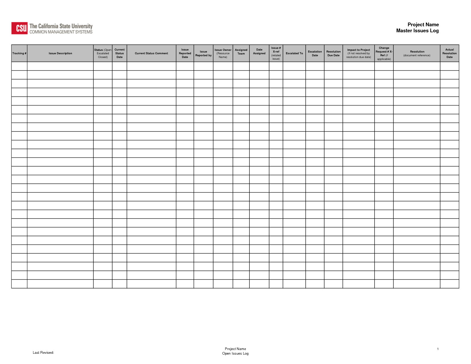 Issue Tracking Log Template Projects to Try Pinterest – Issue Tracking Template