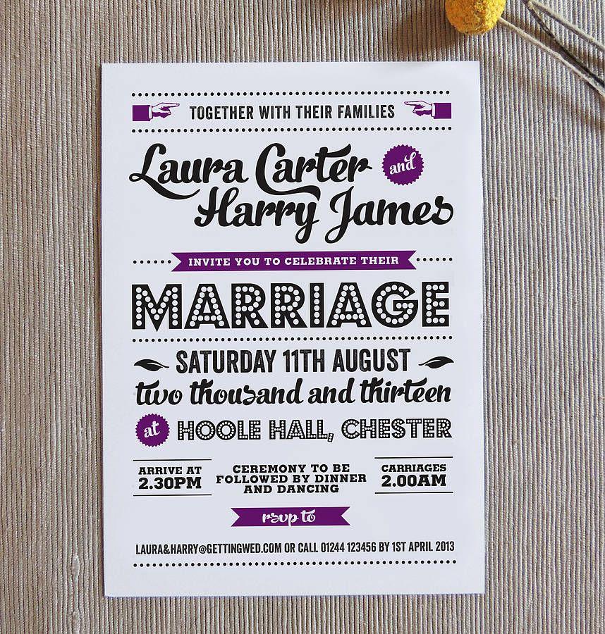 retro vintage wedding invitation - Vintage Wedding Invitation