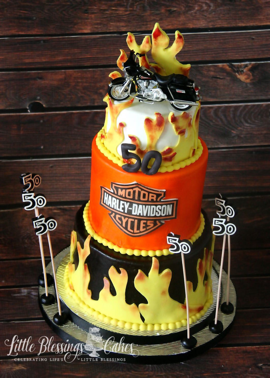 50th Mens Harley Davidson Cake Birthday Dallas Fort Worth Cakes