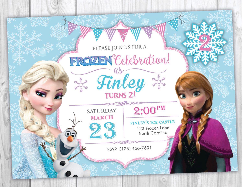 Frozen Birthday Invitation Printable, Frozen Birthday Party Invites ...