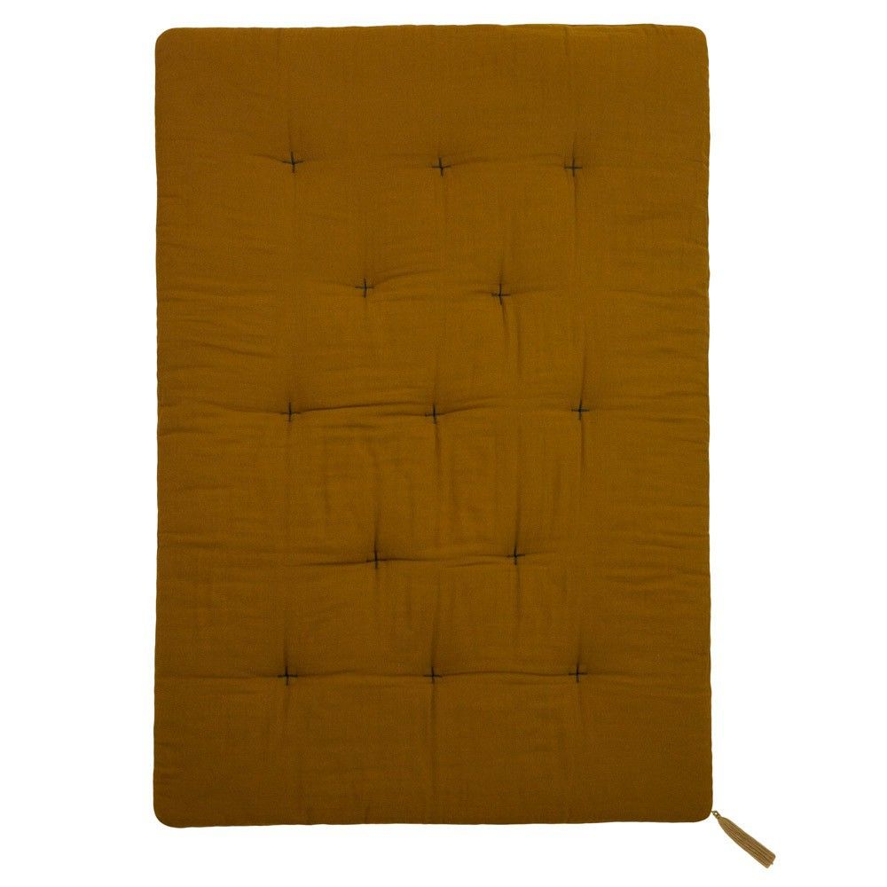 Futon Quilt Mustard Yellow Gold S024 M I N I M E