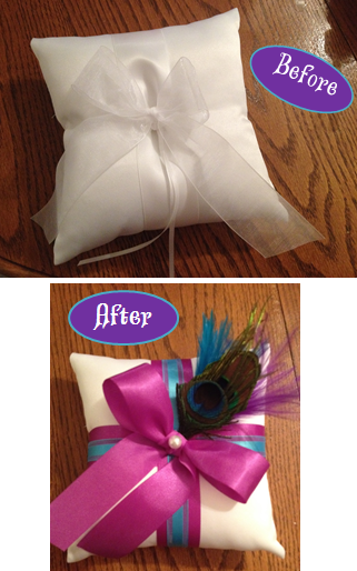Peacock Themed Ring Bearer Pillow DIY