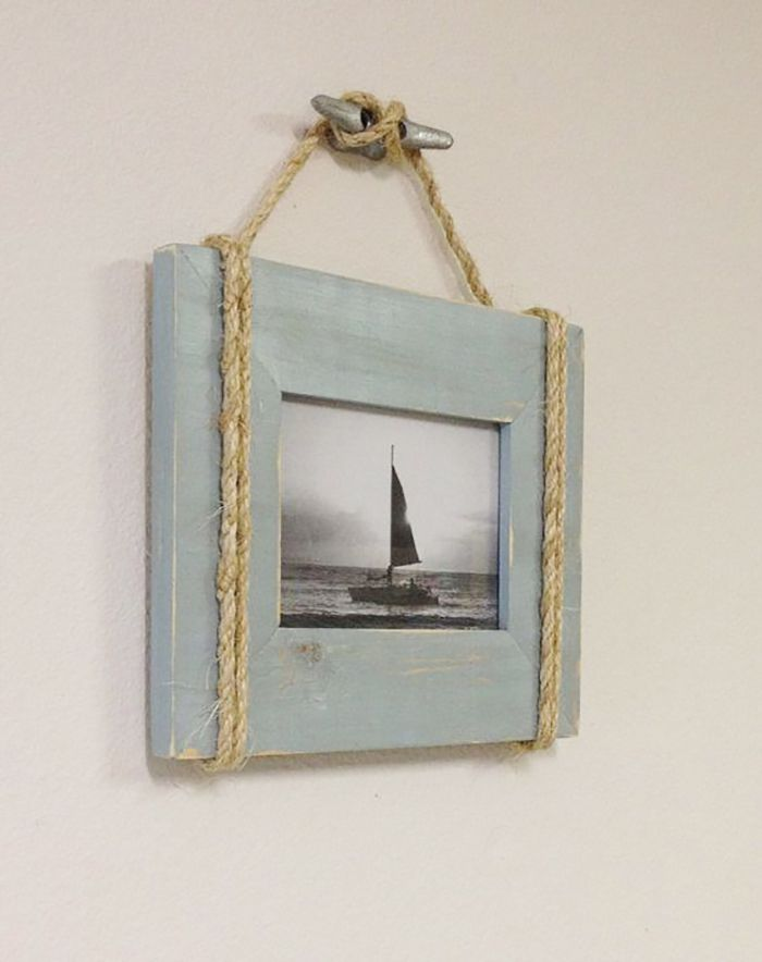 Photo of Picture Frame With Rope-Nautical Bathroom