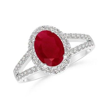 Angara Milgrain Butterfly Natural Ruby and Diamond Vintage Ring 1EWBLm