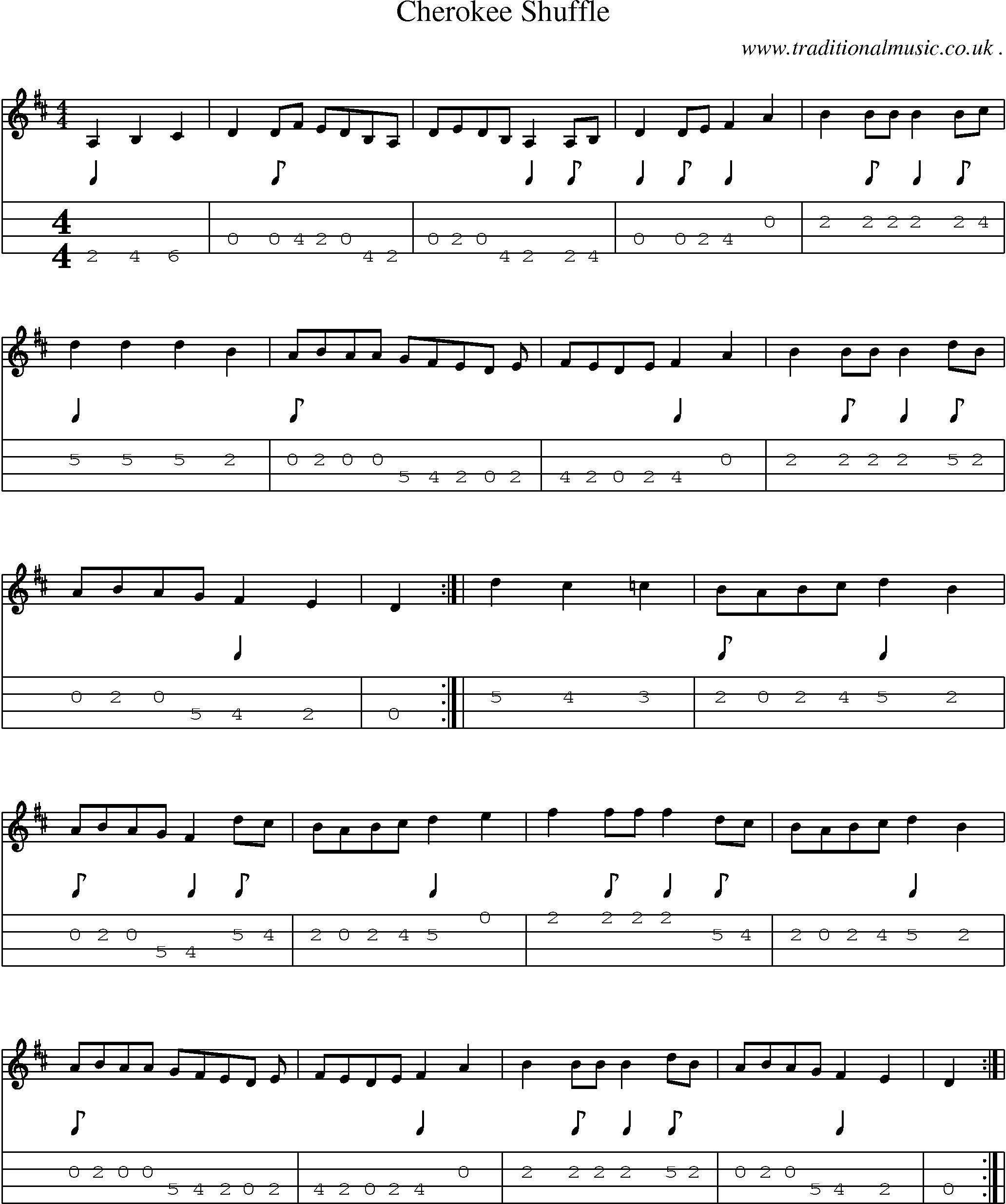 Sheet music and mandolin tabs for the drunken sailor mandolin common session tunes scores and tabs for mandolin cherokee shuffle hexwebz Gallery