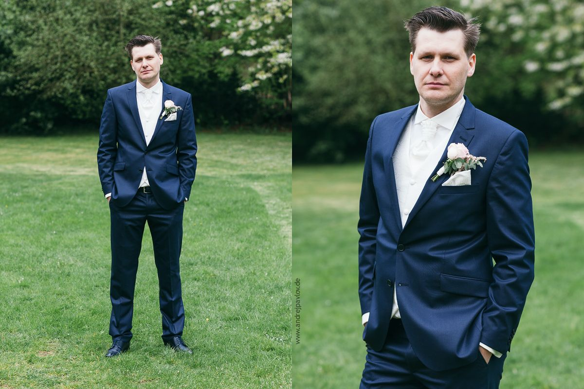 Brautigam Blaue Anzug Weisses Weste Hemd Und Krawatte Groom Suit Navy Blue Tie Shirt And Vest White Weisse Weste Blauer Anzug Brautigam Blau