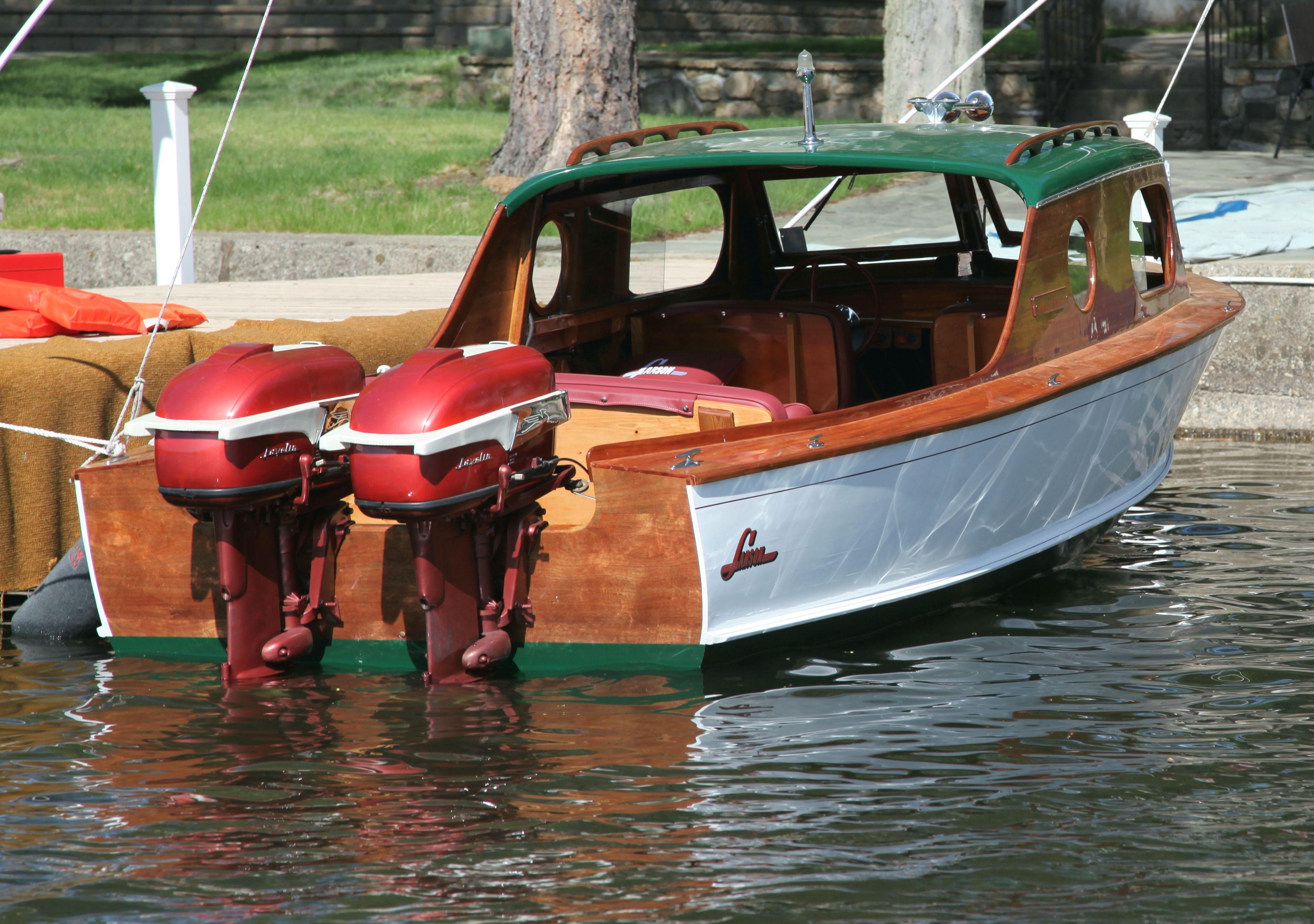 1955 Larsen Outboard Boat Motors Vintage Boats Classic Wooden Boats