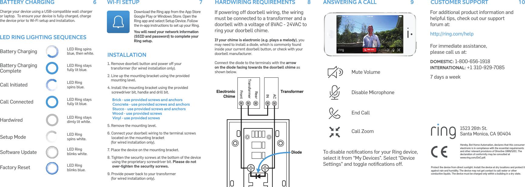 Ring Doorbell Setup Instructions Ring Doorbell Oobe Instruction