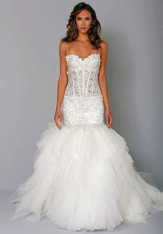 pnina tornai for kleinfeld 4242 mermaid wedding dress | bridal