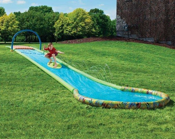Wasserrutsche im eignenen Garten selber bauen und den Kindern ein - pool garten selber bauen