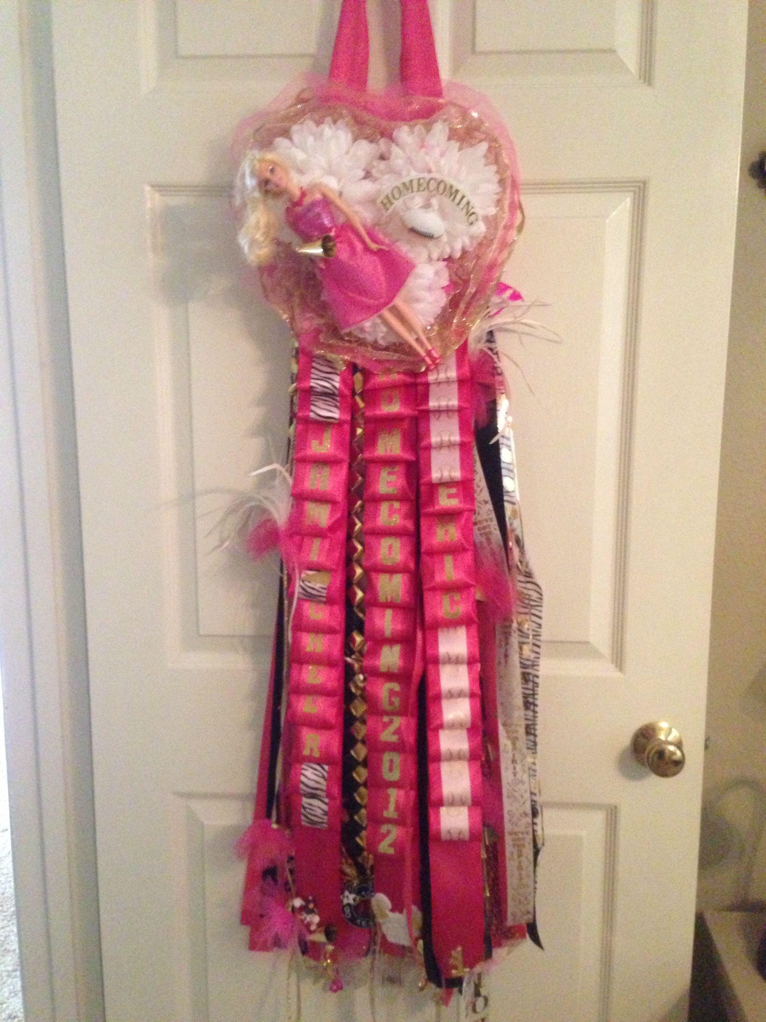 Barbie Football mum.   Cheer  Cheerleader Pink