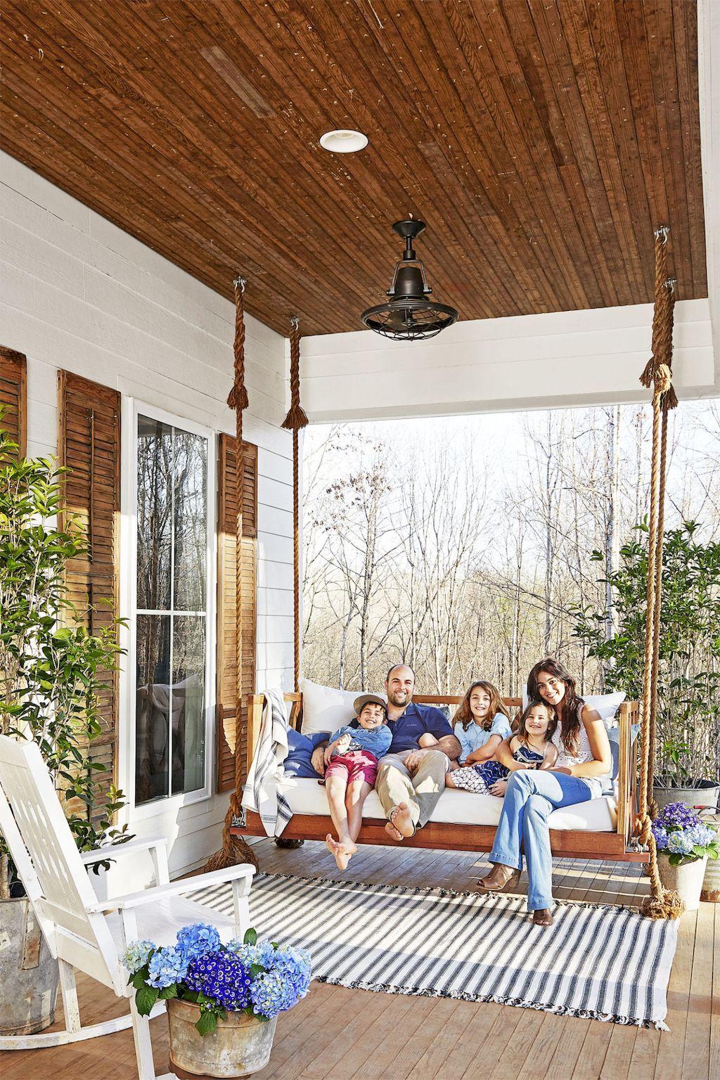 55 DIY Farmhouse Porch Decor Ideas