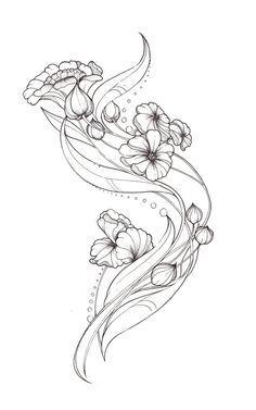 art nouveau flower tattoo designs - Buscar con Google