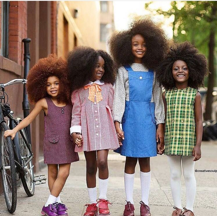 Stylish Black Girls: Cute Little Black Girls With Beautiful 1970s Afros
