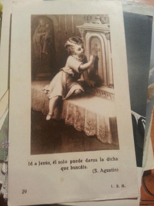 antigua estampa religiosa recordatorio comunion ofertas por lotes (Postales - Religiosas y Recordatorios)