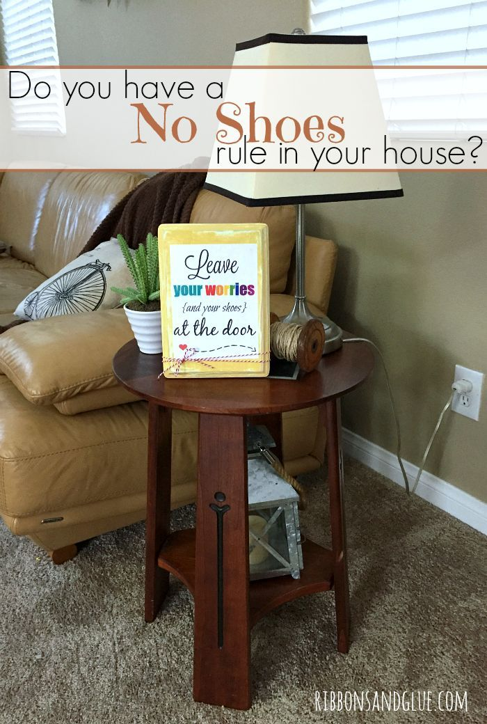 Keep your carpets and floors clean by displaying a whimsical No Shoes Printable in your home.