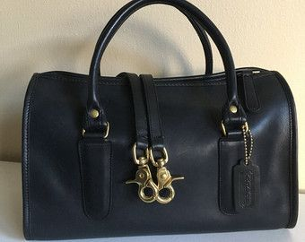 23b5a0ae31cf Vintage Classic Coach Madison Satchel 9765 Black Made in NYC Speedy Doctor  Bag