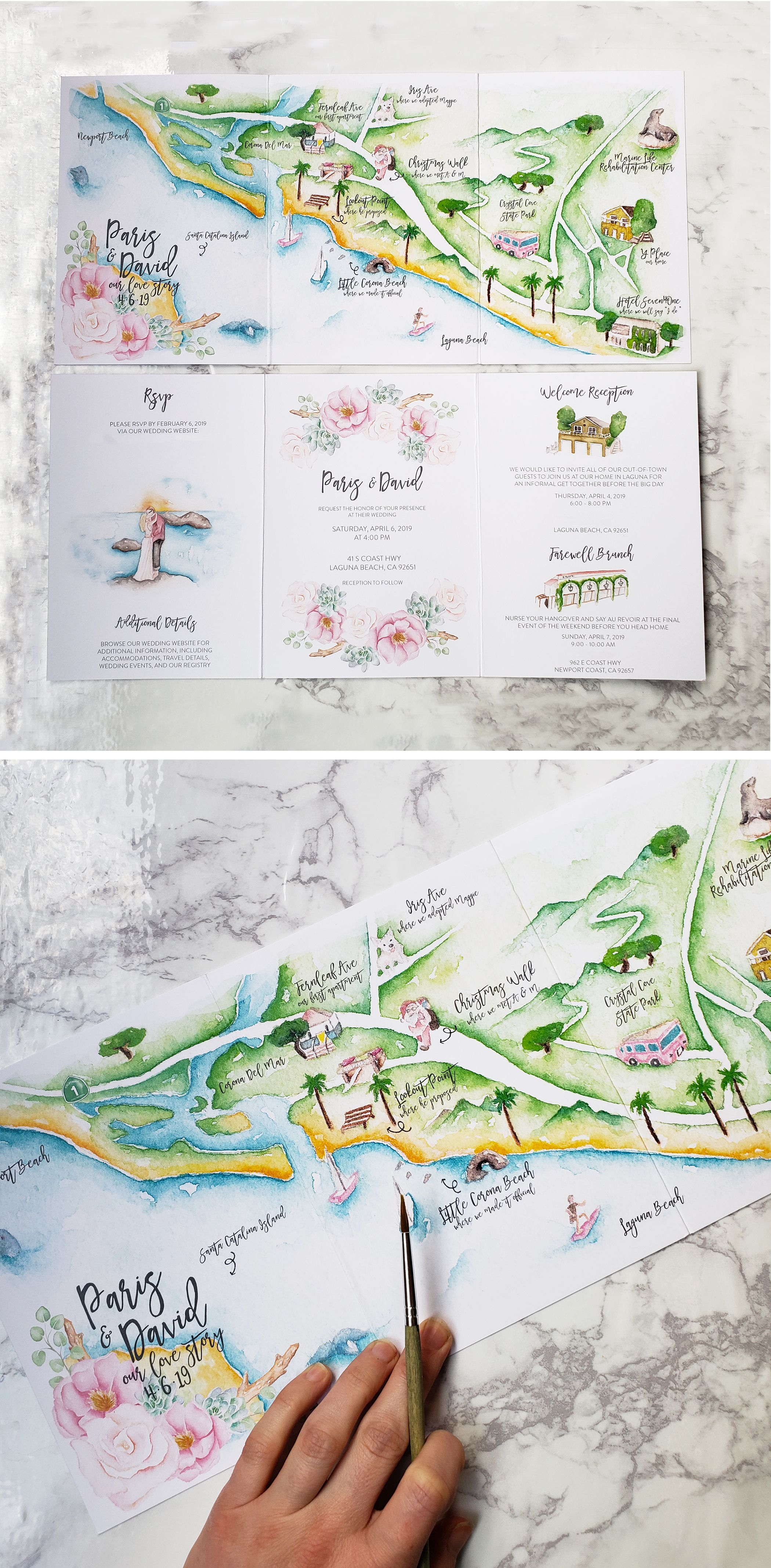All About Trifold Wedding Invitations Story Book Wedding Invitations Italian Wedding Invitations Map Wedding Invitation